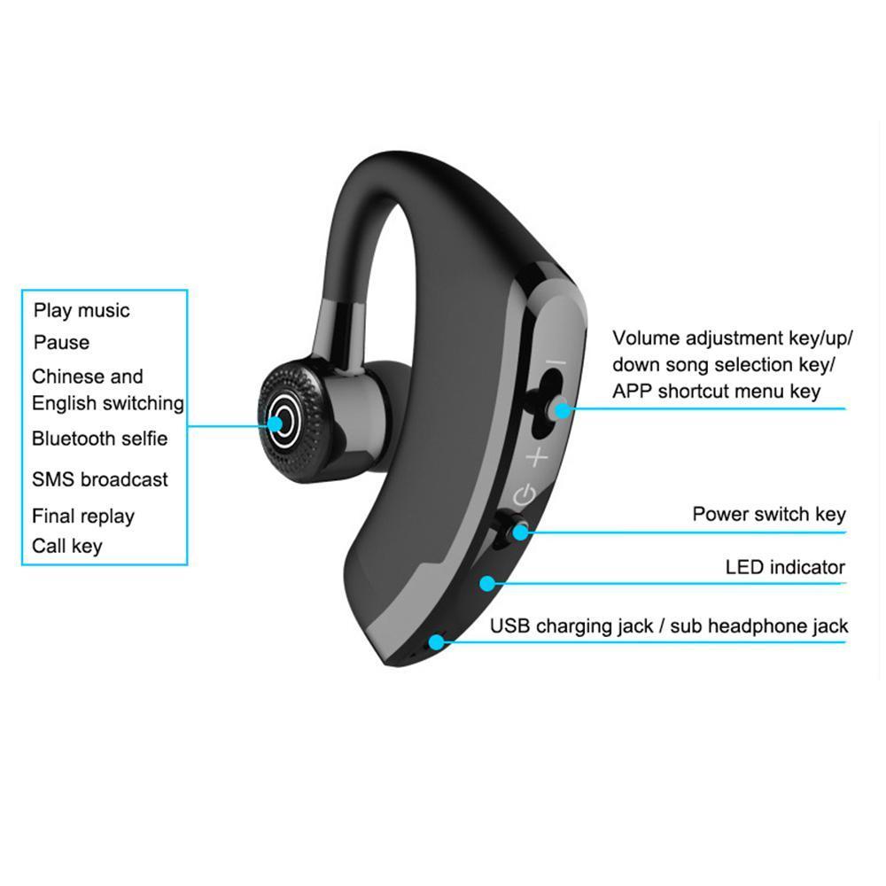 V9 新アップグレード Bluetooth 5.0 イヤホンワイヤレスヘッドフォン Blutooth イヤホンハンズフリーヘッドホンイヤゲーミングヘッドセッ_画像4