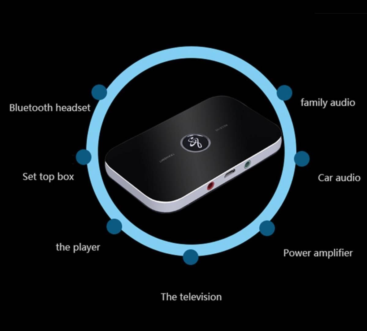 A672 bluetooth5.0 トランスミッター レシーバー ワイヤレスオーディオ B6 3.5ミリメートル aux 音楽受信機_画像8