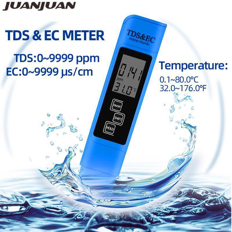 TDS Ec メーター温度テスターペン 3 In1 機能導電率水質測定ツール TDS & EC テスター 0-9990ppm 15%_画像2