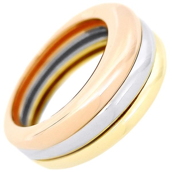 6073 仕上済 カルティエ モビリスリング #52 12号 K18 イエロー ピンク ホワイト 3色 指輪 3連 レディース アクセサリー ジュエリー 小物_画像3