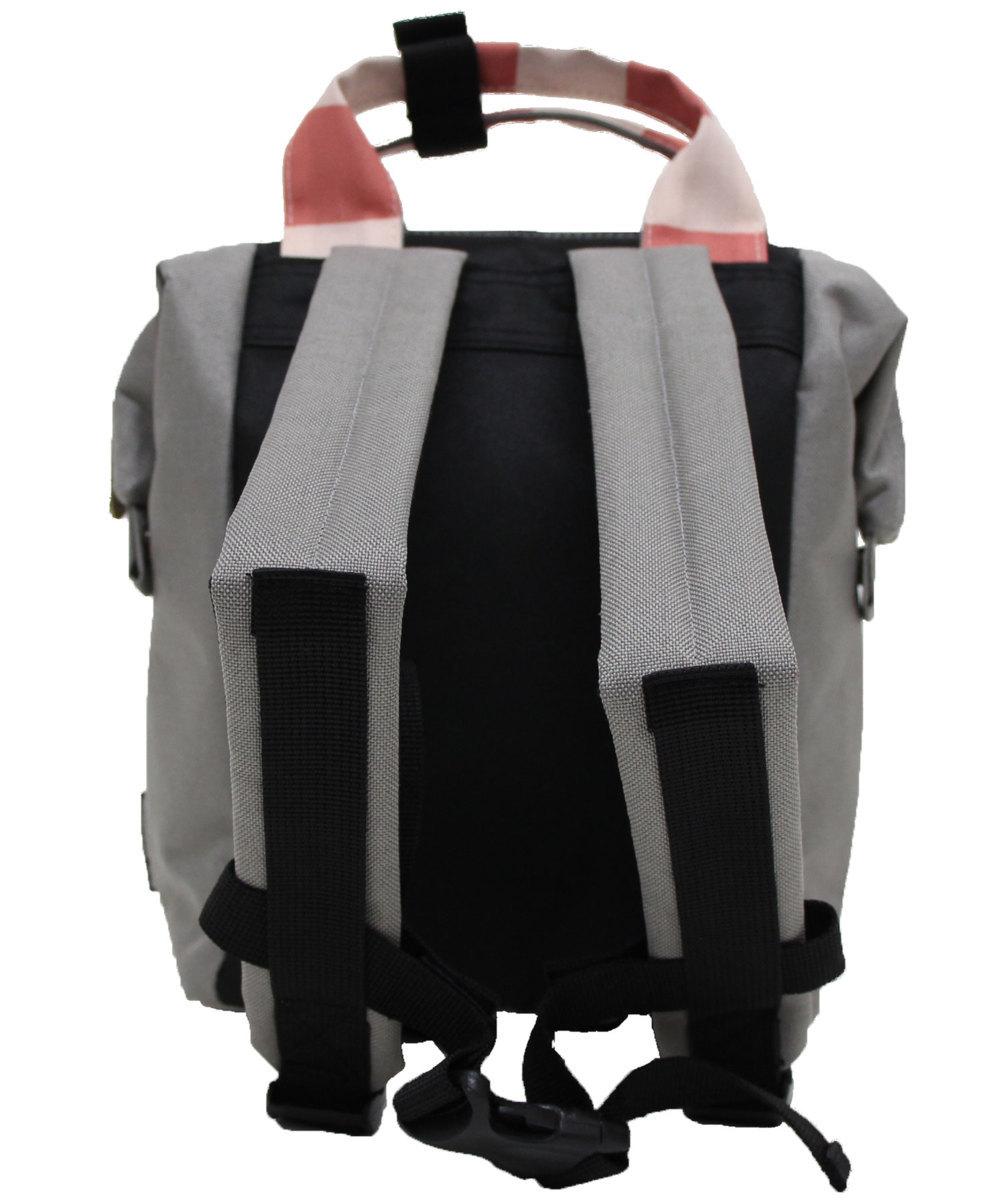 mis zapatos ミスサパト リュック KISD キッズ 子供 スニーカー 2WAY ナイロン キャンバス★グレー★新品_画像4