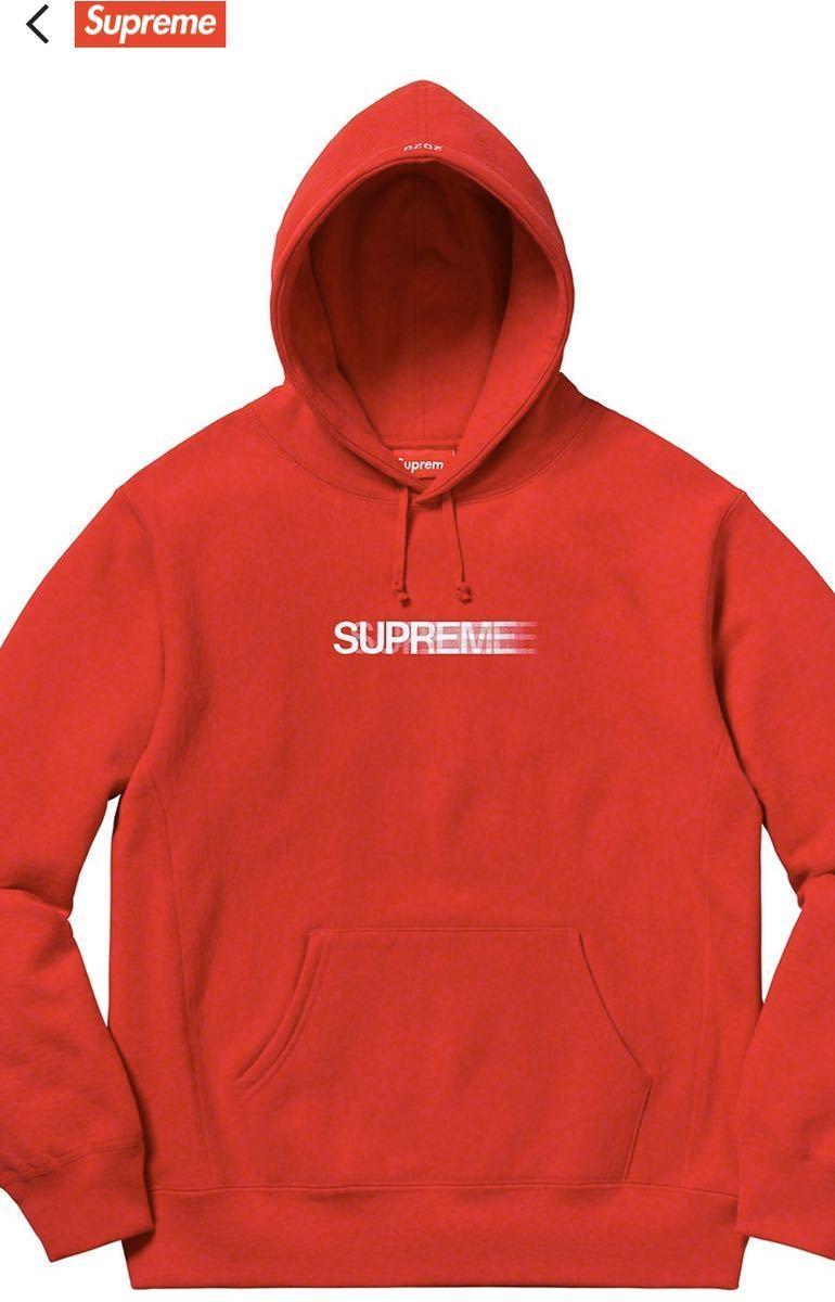 送料無料 supreme Motion Logo Hooded Sweatshirt red S シュプリーム モーションロゴ スウェット パーカー レッド 新品未使用 正規品_画像3