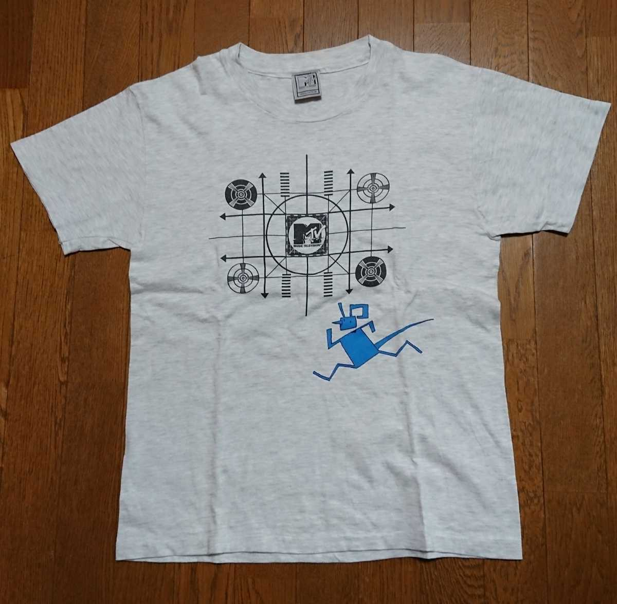 90s MTV Tシャツ グレー USED / nirvana pearl jam hole alice in chains soundgarden stone temple pilots sonic youth mudhoney _画像1
