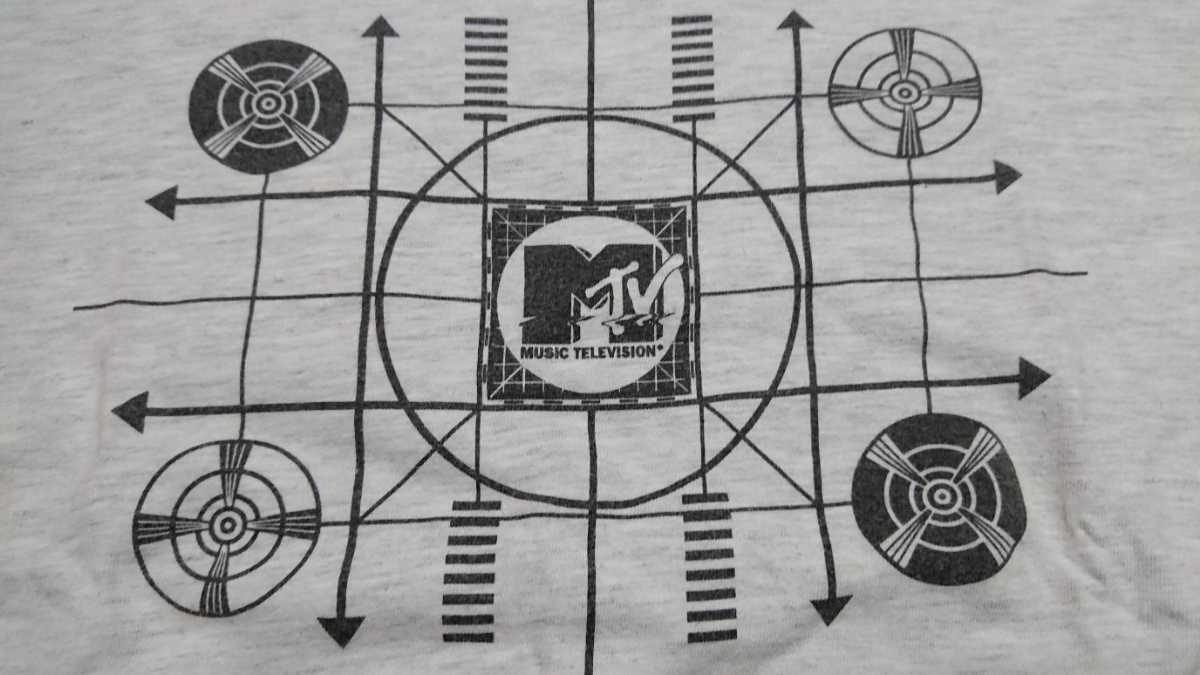 90s MTV Tシャツ グレー USED / nirvana pearl jam hole alice in chains soundgarden stone temple pilots sonic youth mudhoney _画像4