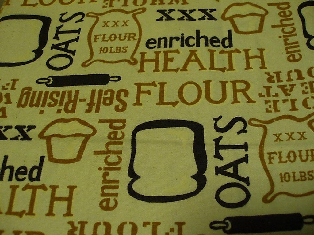 ●パン総柄プリント ビンテージ生地 52cm×114cm USA製 アンティーク リメイク はぎれ シーツ アメリカ 布 雑貨_画像9