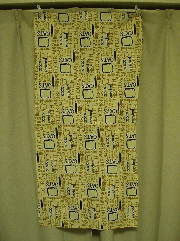 ●パン総柄プリント ビンテージ生地 52cm×114cm USA製 アンティーク リメイク はぎれ シーツ アメリカ 布 雑貨_画像3