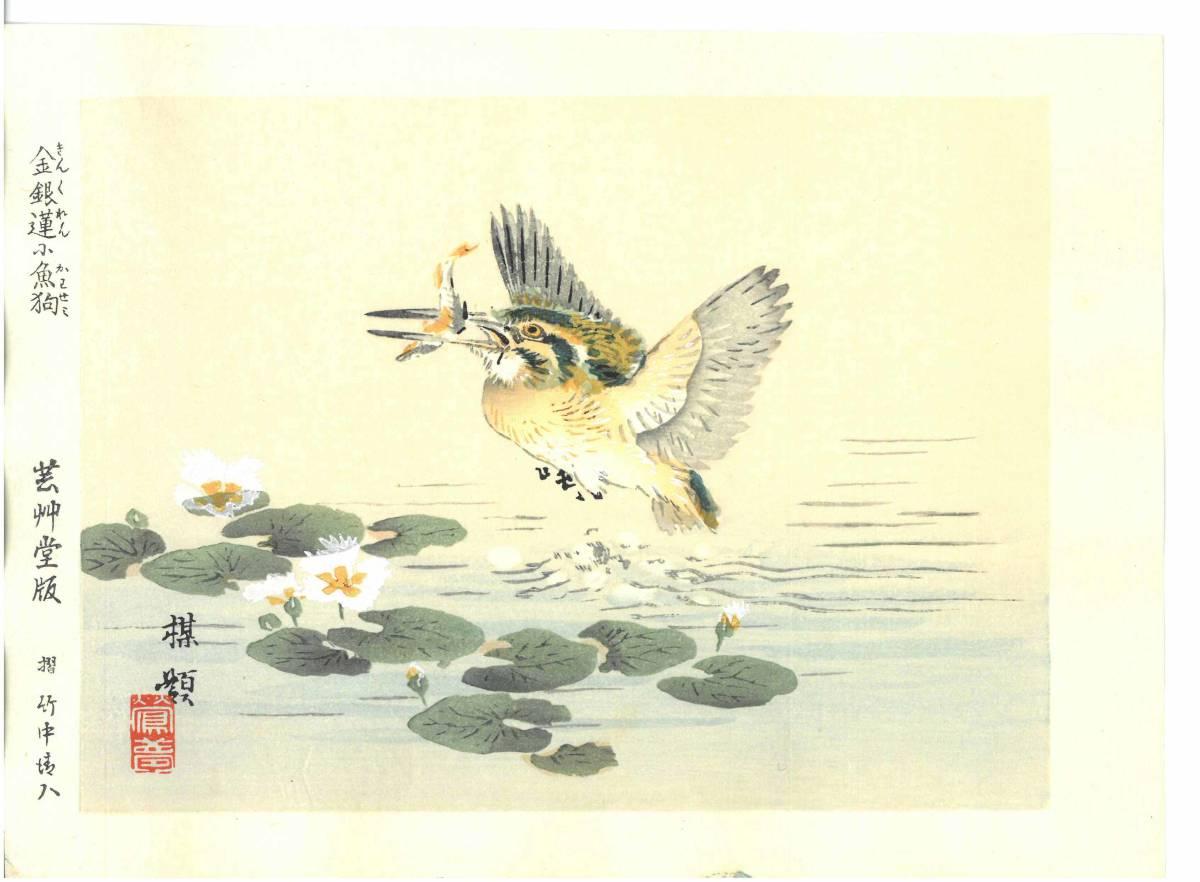 幸野楳嶺 (Kono Bairei) (1844~1895) 木版画 かわせみ 初版明治期~ 版元蔵出し作品! 京都の一流の摺師の技をご堪能下さい。_画像1