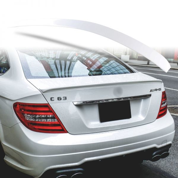 純正色塗装 ABS製 トランクスポイラー メルセデスベンツ W204 C204用 クーペ Aタイプ 両面テープ取付 カラーコード:650 MTS-27175_画像1
