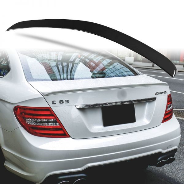 純正色塗装 ABS製 トランクスポイラー メルセデスベンツ W204 C204用 クーペ Aタイプ 両面テープ取付 カラーコード:197 MTS-27175_画像1