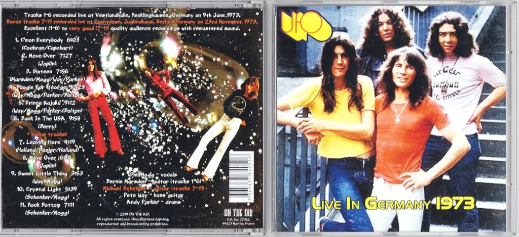 UFO - Live In Germany 1973 CD