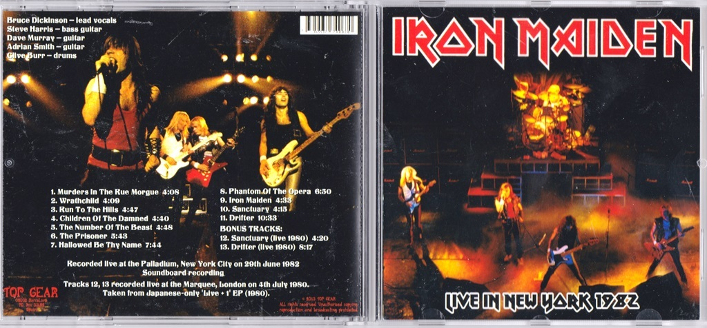 Iron Maiden Live In New York 1982 / Live at the Marquee, London 1980 CD