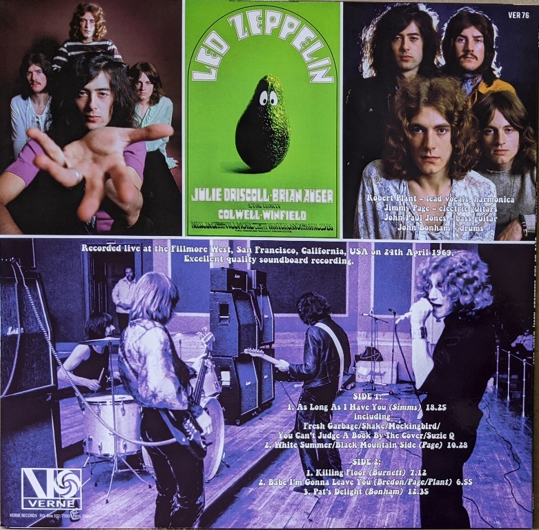 Led Zeppelin - Live at the Fillmore West 24th April 1969 限定アナログ・レコード
