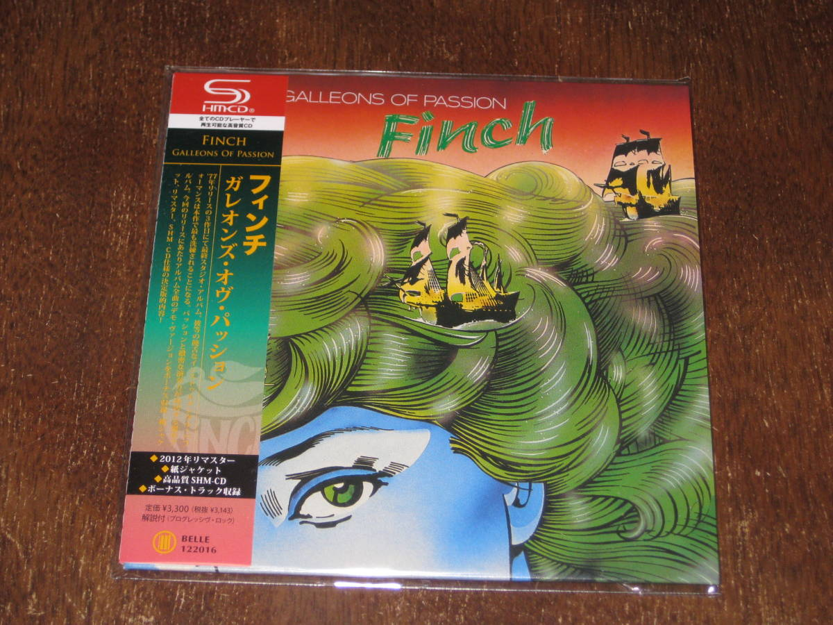 FINCH フィンチ / GALLEONS OF PASSION ガレオン・オヴ・パッション SHM-CD 2012年リマスター 国内帯有