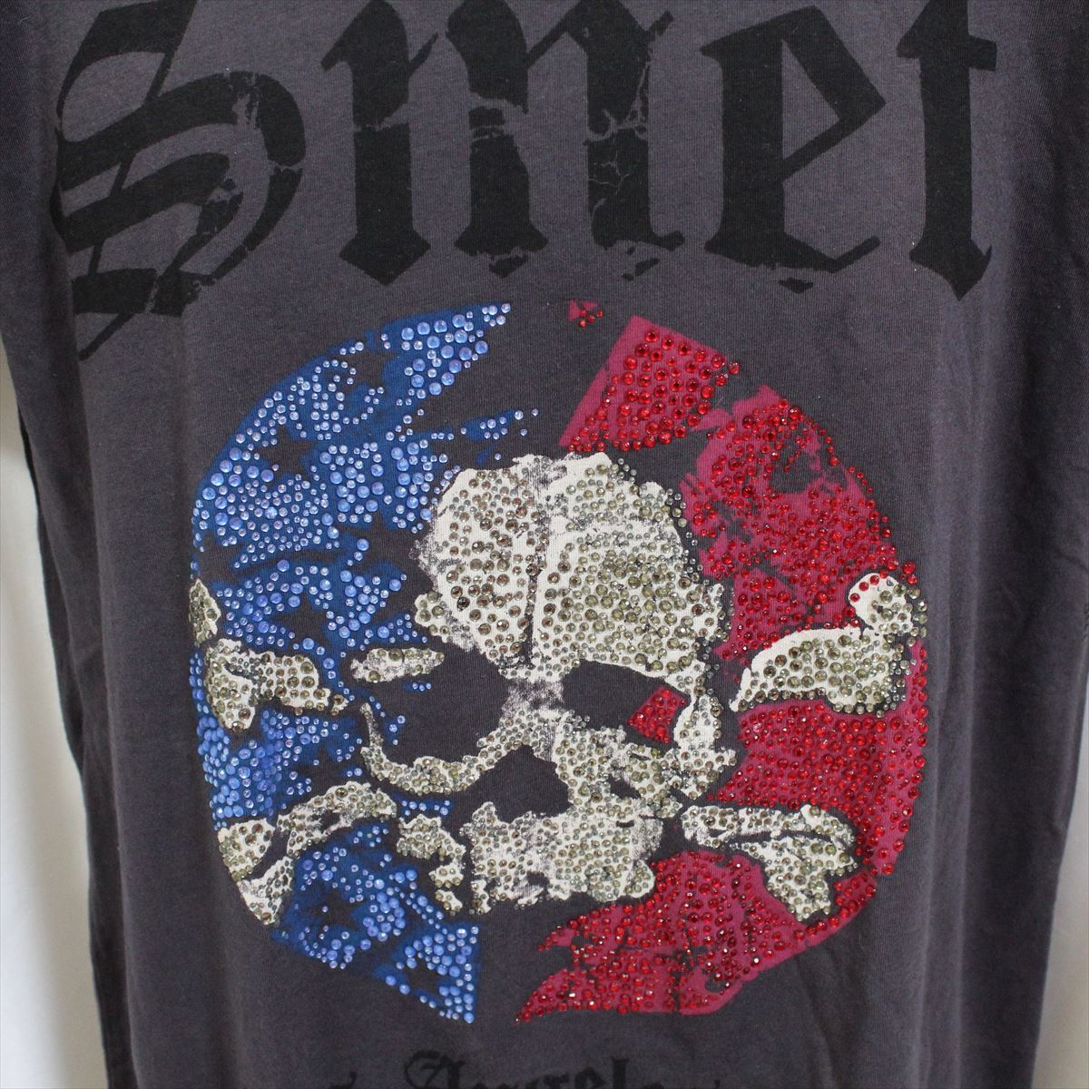 スメット SMET メンズ半袖Tシャツ チャコール Sサイズ NO2 新品_画像2
