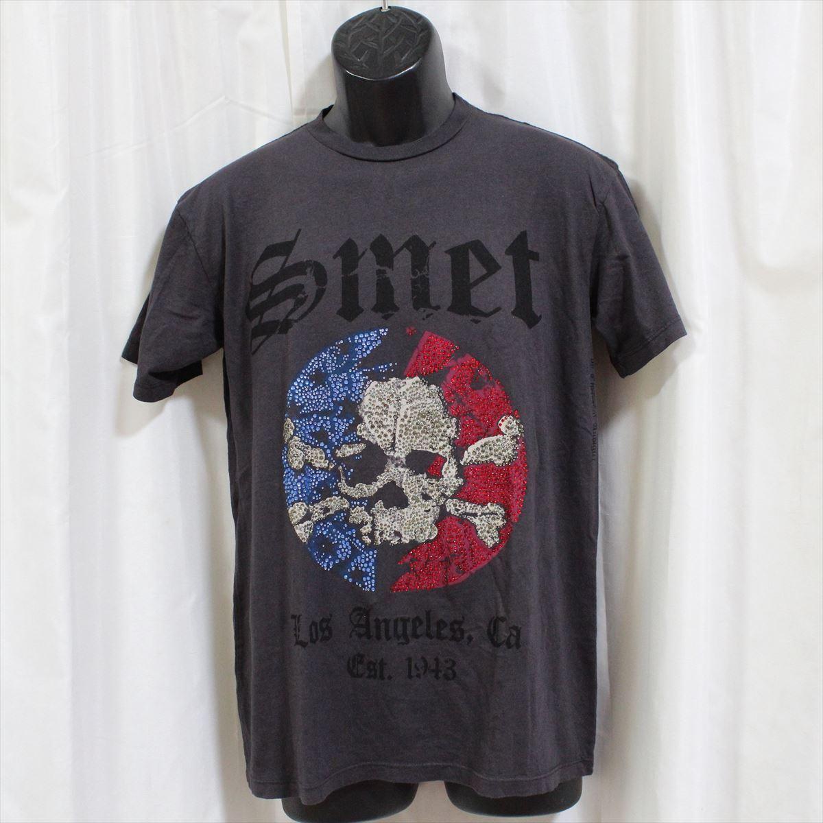 スメット SMET メンズ半袖Tシャツ チャコール Sサイズ NO2 新品_画像1
