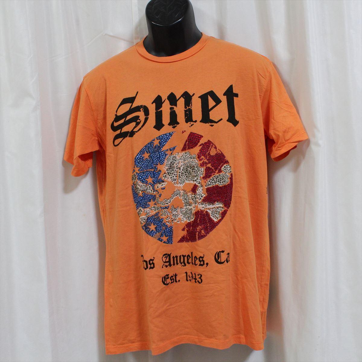スメット SMET メンズ半袖Tシャツ オレンジ Mサイズ NO3 新品_画像1