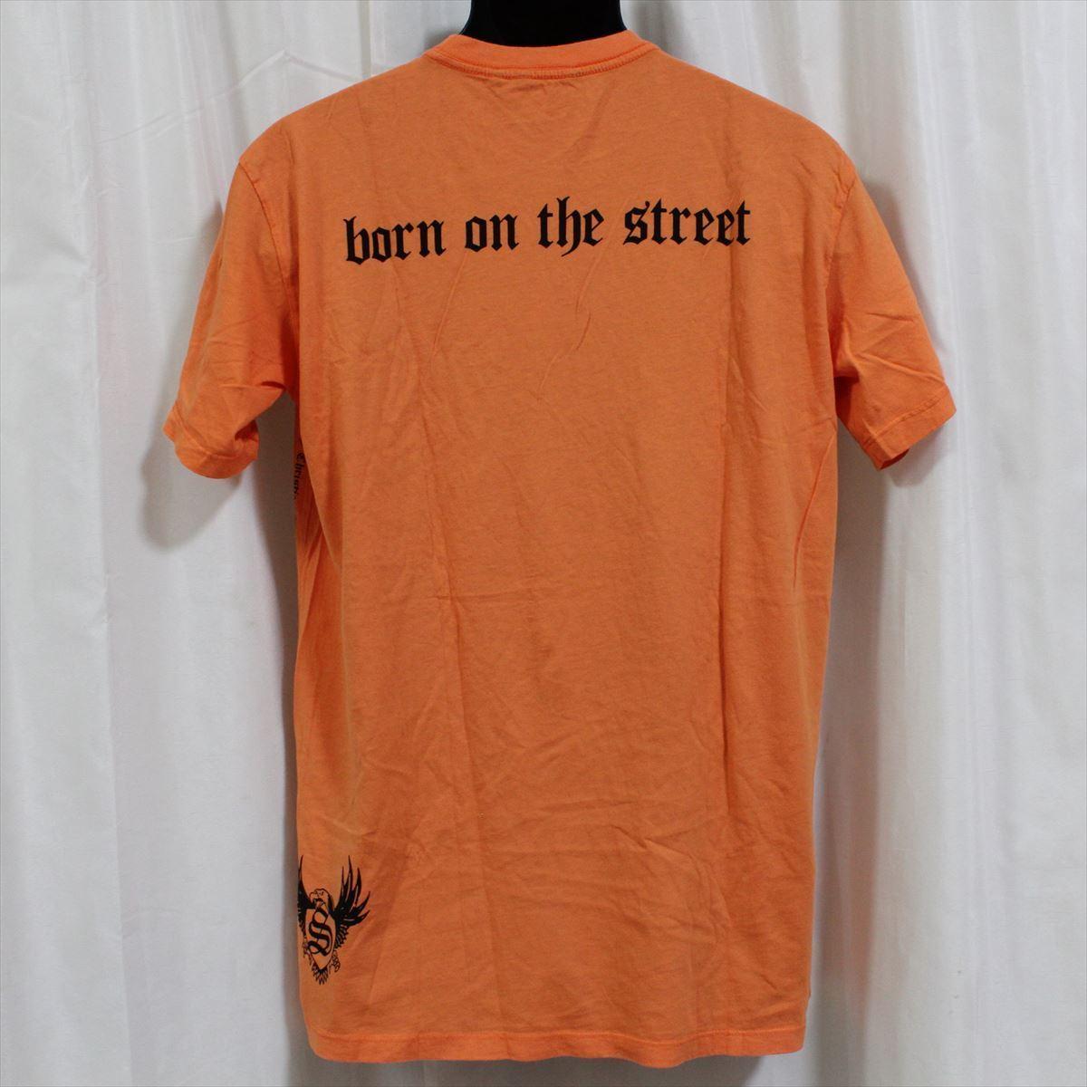 スメット SMET メンズ半袖Tシャツ オレンジ Lサイズ NO3 新品_画像3
