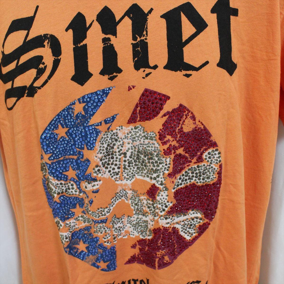スメット SMET メンズ半袖Tシャツ オレンジ Lサイズ NO3 新品_画像2