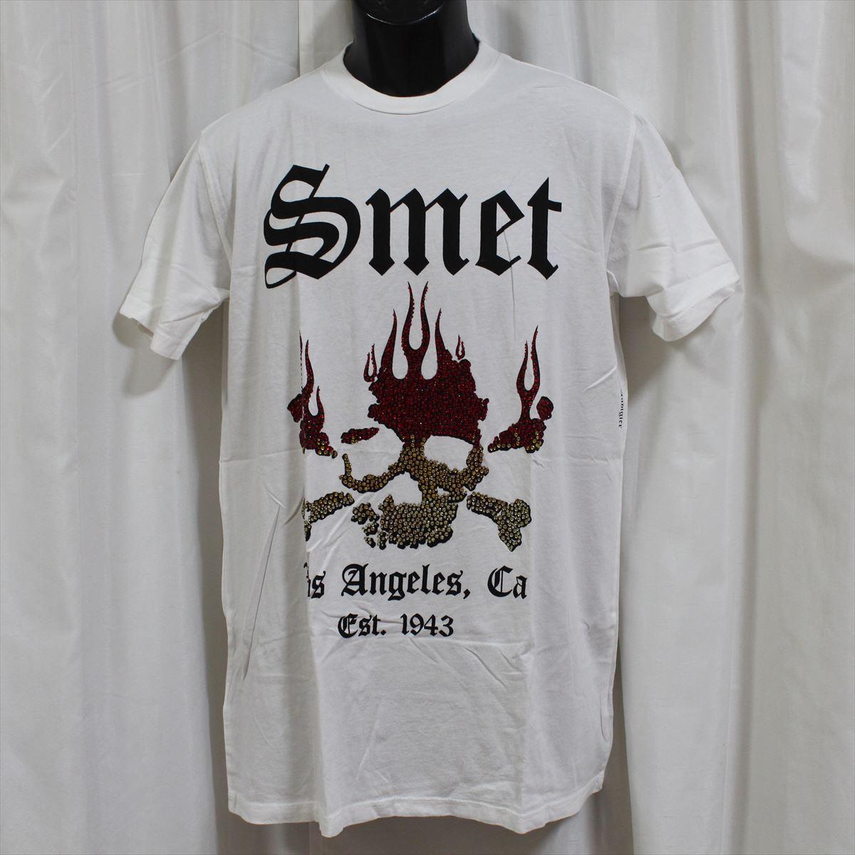 スメット SMET メンズ半袖Tシャツ ホワイト Lサイズ NO4 新品_画像1
