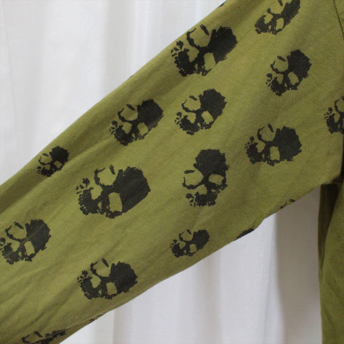 スメット SMET メンズ長袖Tシャツ Mサイズ グリーン NO5 新品_画像2