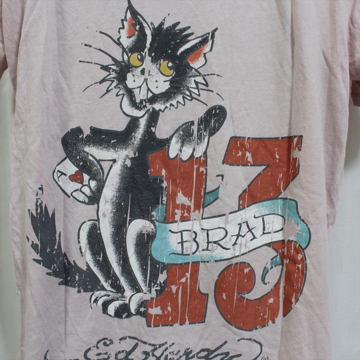 エドハーディー ED HARDY メンズ半袖Tシャツ ピンク Lサイズ NO71 新品_画像5