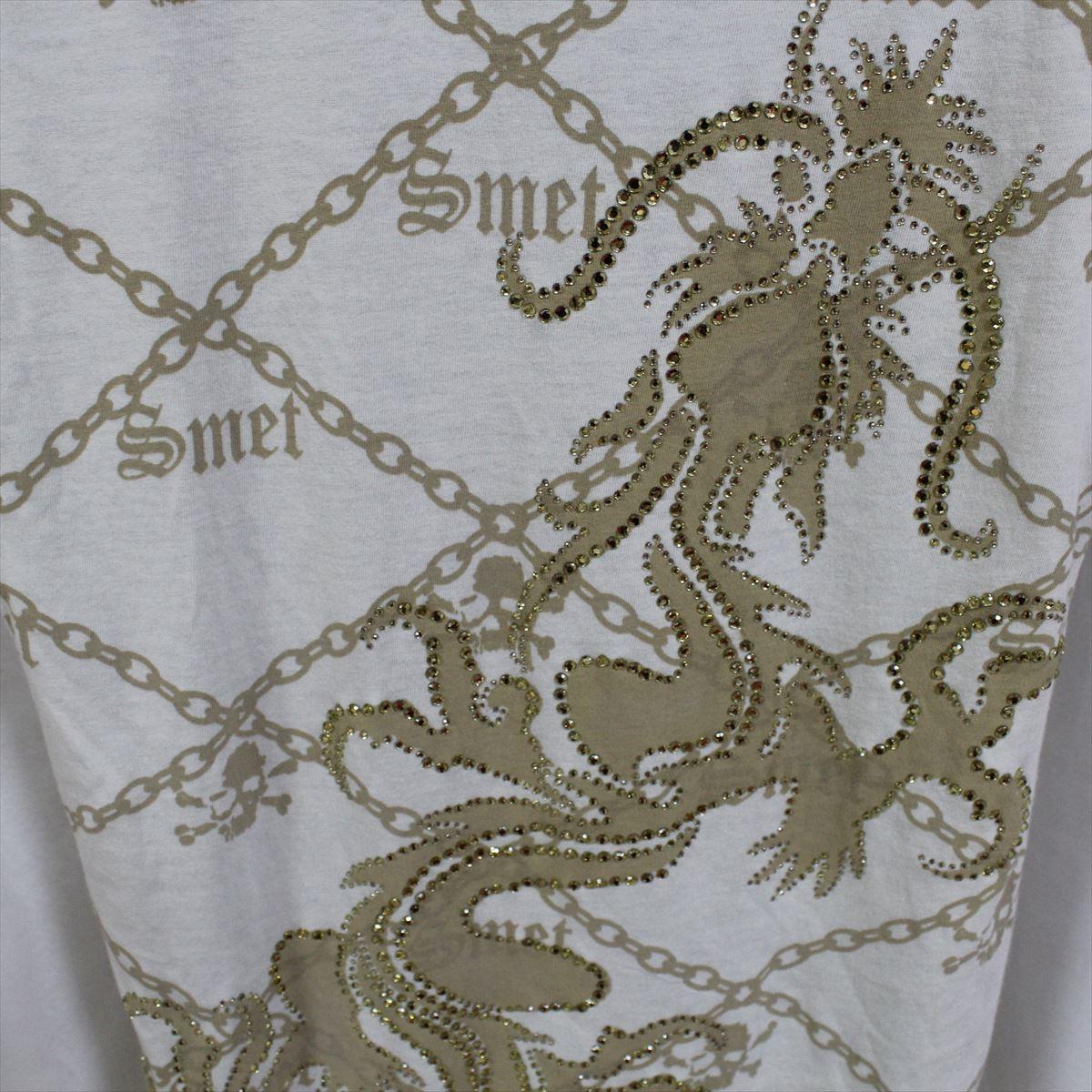 スメット SMET メンズ半袖Tシャツ アイボリー Sサイズ NO8 新品 昇竜_画像4