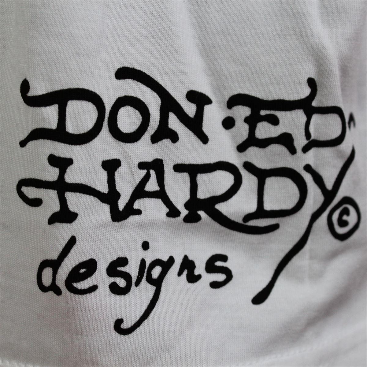 エドハーディー ED HARDY メンズ半袖Tシャツ Lサイズ ホワイト NO72 新品 Vネック_画像4
