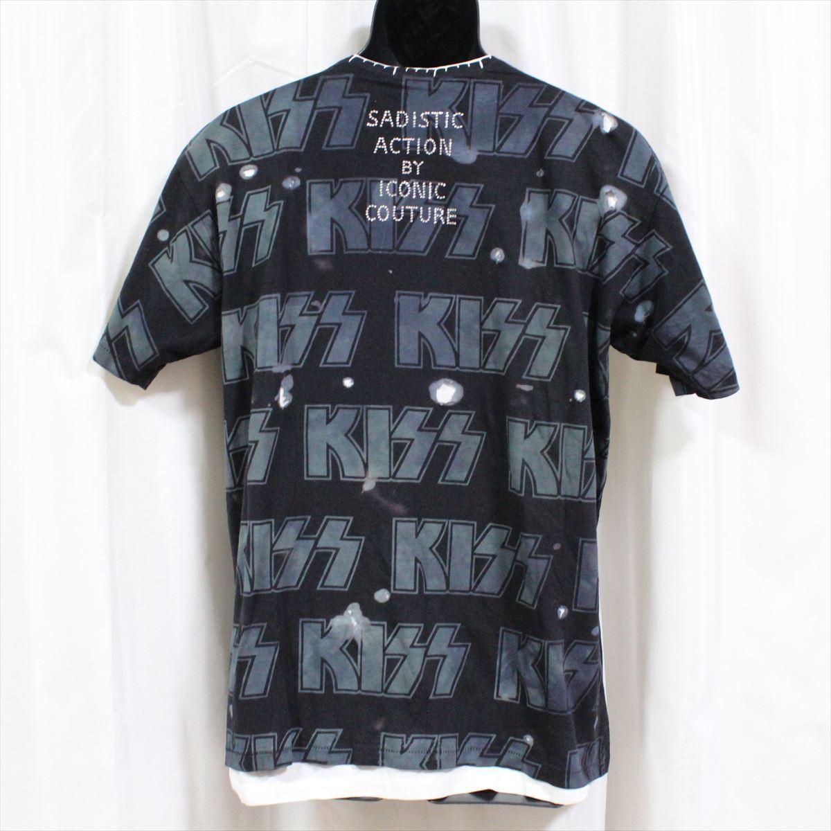 サディスティックアクション SADISTIC ACTION アイコニック メンズ半袖Tシャツ KISS Lサイズ ICONIC COUTURE 新品_画像4