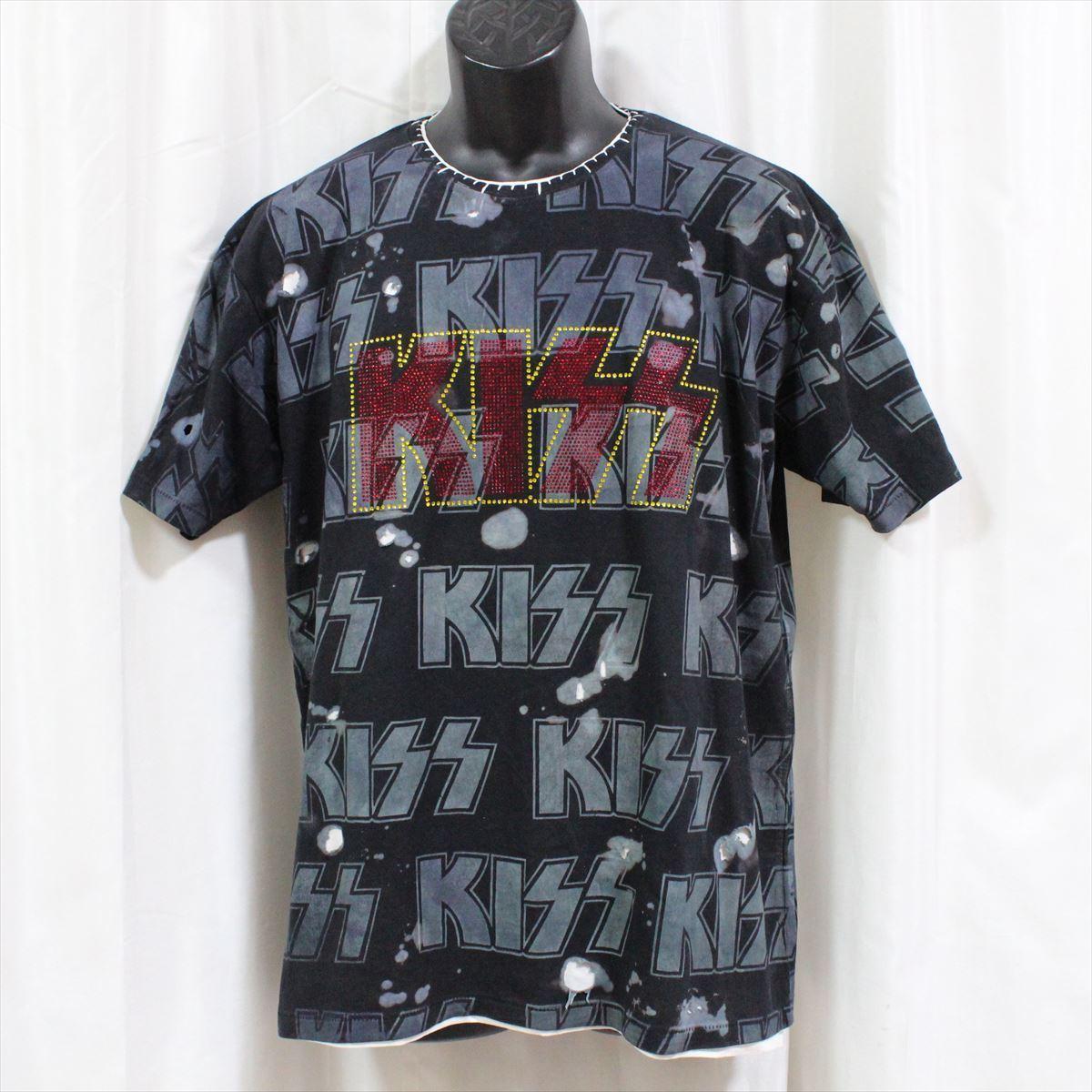 サディスティックアクション SADISTIC ACTION アイコニック メンズ半袖Tシャツ KISS Lサイズ ICONIC COUTURE 新品_画像1