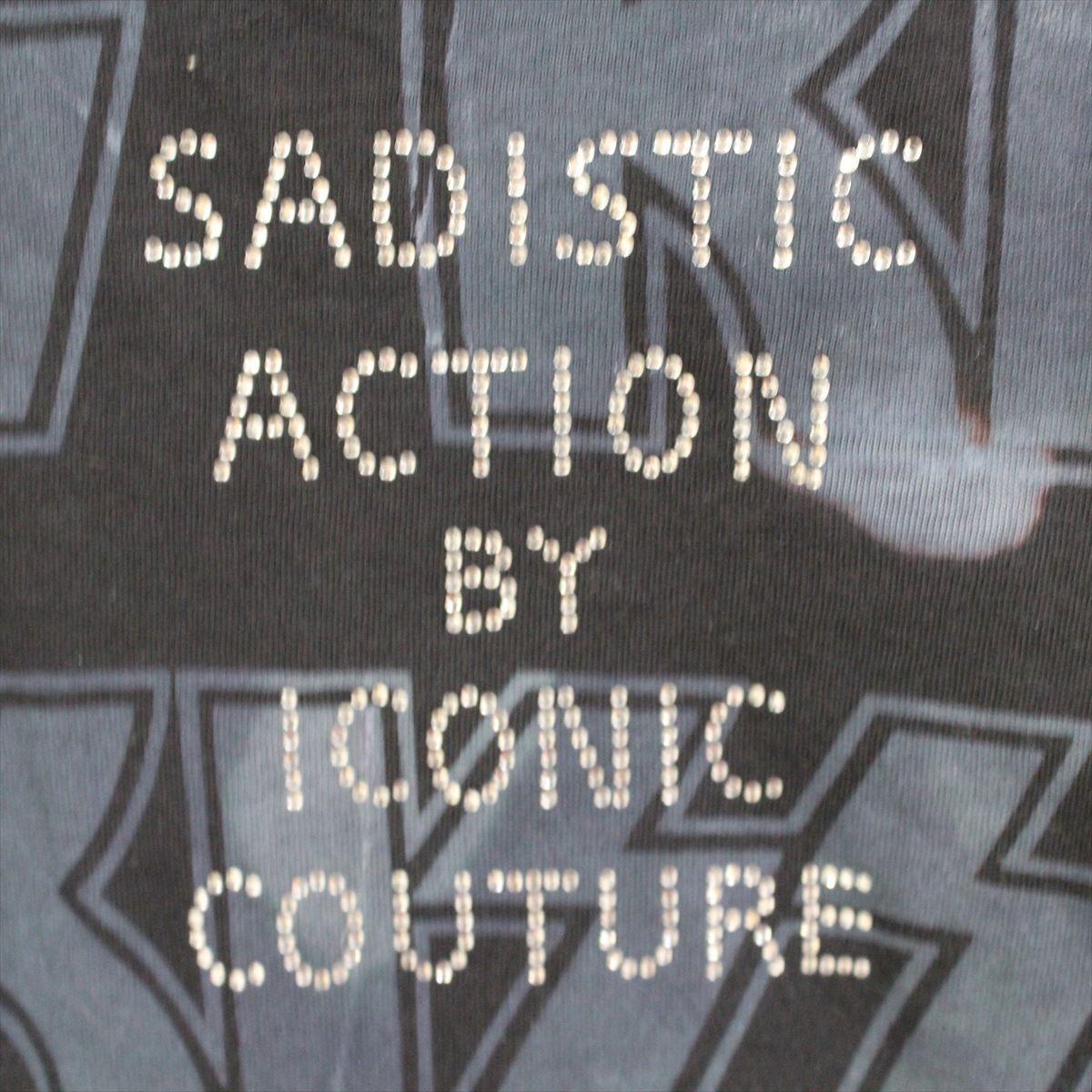 サディスティックアクション SADISTIC ACTION アイコニック メンズ半袖Tシャツ KISS Lサイズ ICONIC COUTURE 新品_画像5