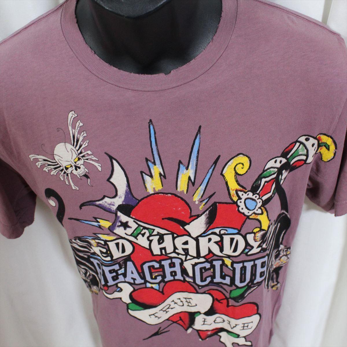 エドハーディー ED HARDY メンズ半袖Tシャツ Sサイズ 新品 TRUE LOVE_画像2
