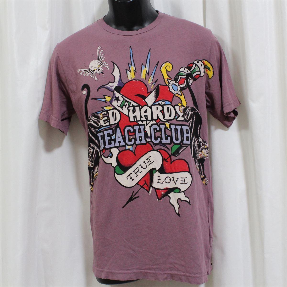 エドハーディー ED HARDY メンズ半袖Tシャツ Sサイズ 新品 TRUE LOVE_画像1