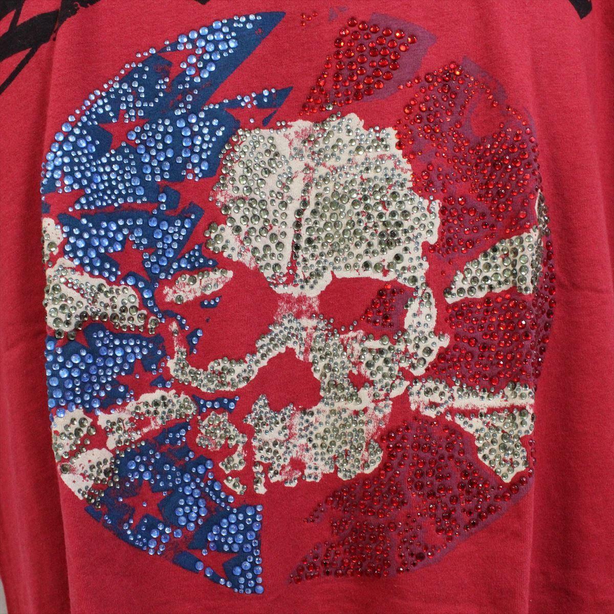 スメット SMET メンズ半袖Tシャツ レッド Sサイズ NO10 新品 赤 スカル_画像2