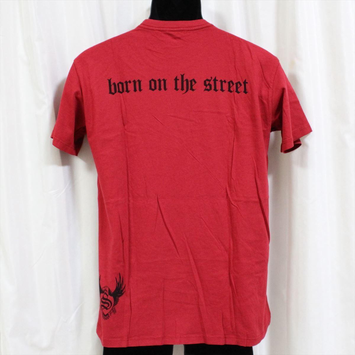 スメット SMET メンズ半袖Tシャツ レッド Sサイズ NO10 新品 赤 スカル_画像4