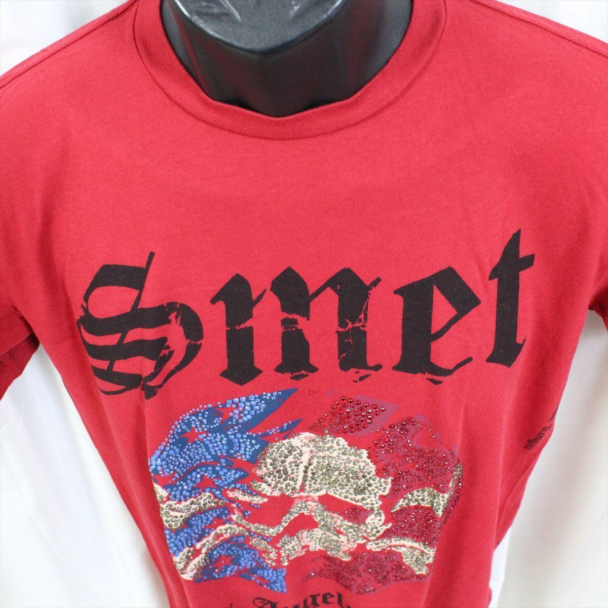 スメット SMET メンズ半袖Tシャツ レッド Sサイズ NO10 新品 赤 スカル_画像3