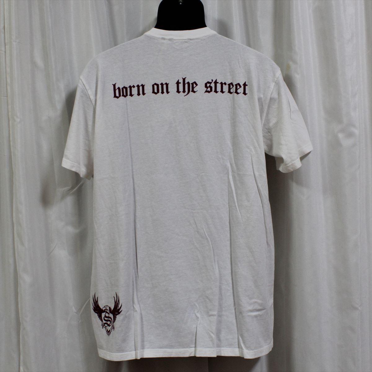 スメット SMET メンズ半袖Tシャツ ホワイト Lサイズ NO11 新品 白 スカル_画像4