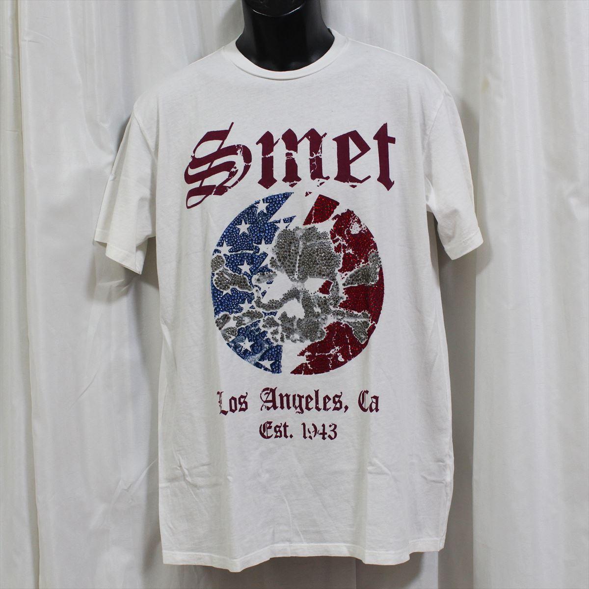 スメット SMET メンズ半袖Tシャツ ホワイト Lサイズ NO11 新品 白 スカル_画像1