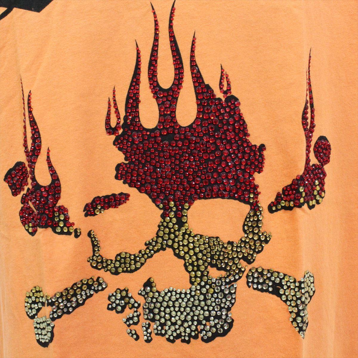 スメット SMET メンズ半袖Tシャツ オレンジ Sサイズ NO12 新品 スカル_画像2