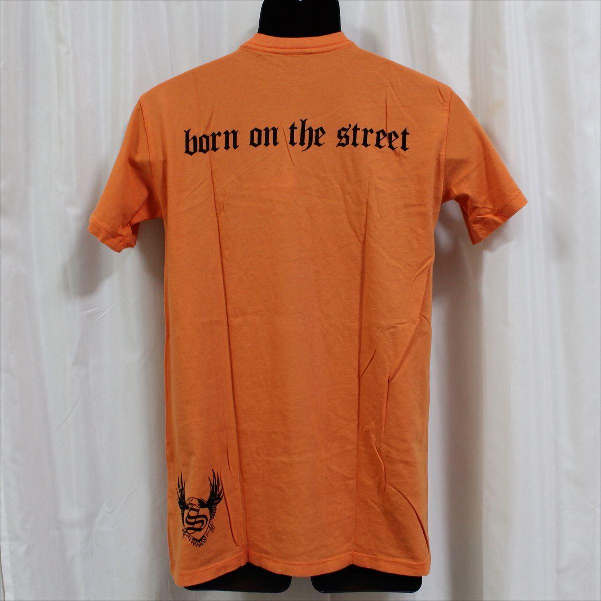 スメット SMET メンズ半袖Tシャツ オレンジ Mサイズ NO12 新品 スカル_画像3