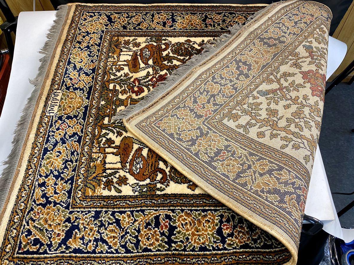 Keschan ペルシャ絨毯 125×95cm ビンテージ 現状品