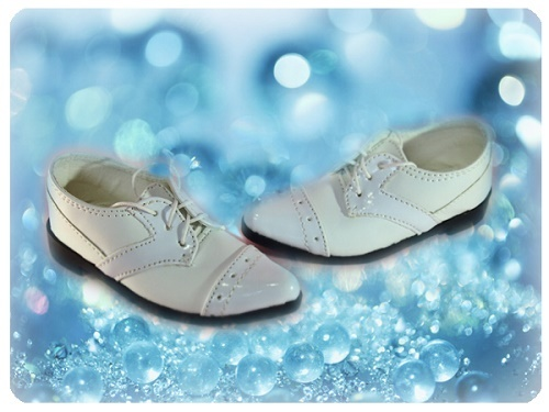 ●SD13/SD16/SD17男の子用フォーマルドールシューズ*ホワイト●ドール靴の内寸:縦9.0cm 横3.5cm●_画像1