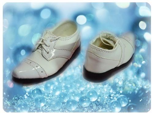 ●SD13/SD16/SD17男の子用フォーマルドールシューズ*ホワイト●ドール靴の内寸:縦9.0cm 横3.5cm●_画像4