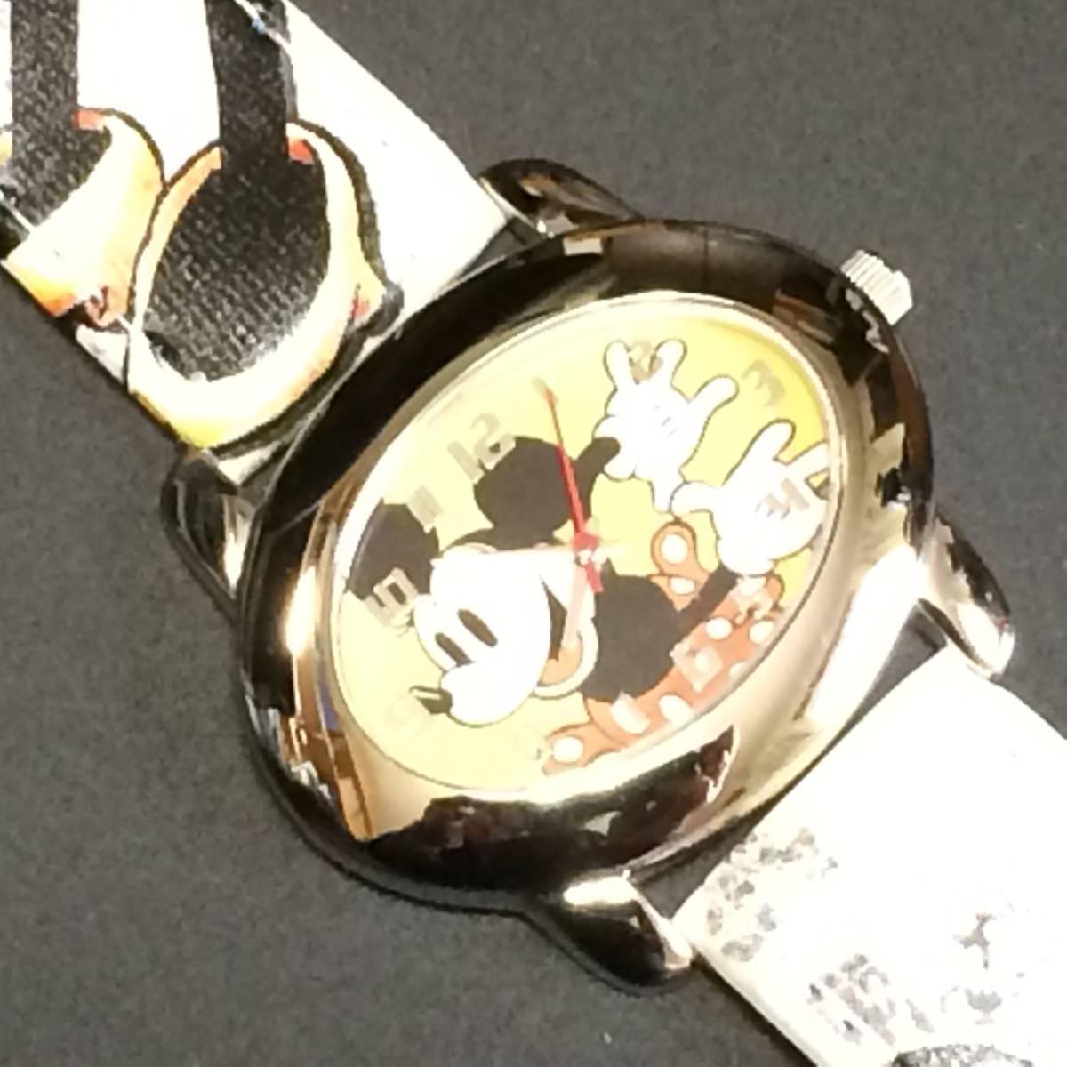 ディズニー ★ ディズニーウオッチ (ミッキーマウス) 腕時計 昭和 希少_画像1