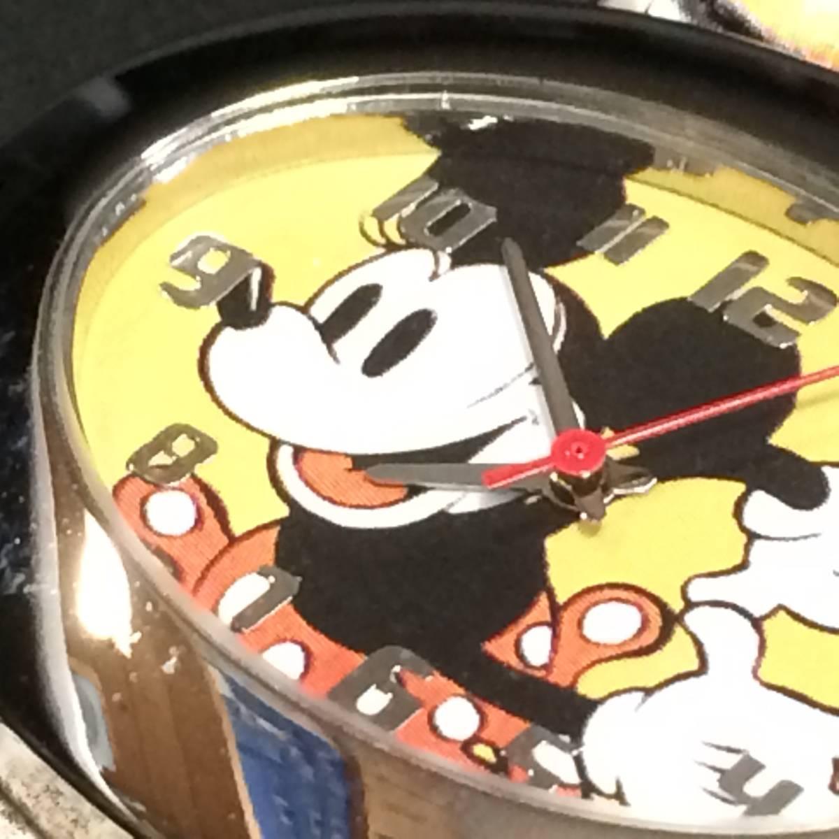 ディズニー ★ ディズニーウオッチ (ミッキーマウス) 腕時計 昭和 希少_画像9