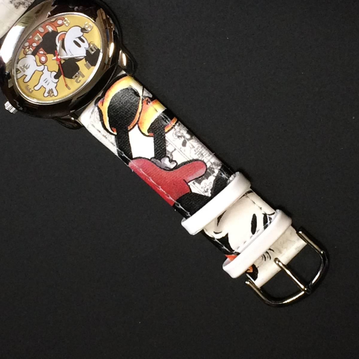ディズニー ★ ディズニーウオッチ (ミッキーマウス) 腕時計 昭和 希少_画像2