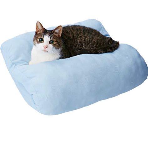 最終SALE 新品未開封 ペット 犬猫 ペティオ 冷感 生地「クリアルDX」使用 ひんやり ロール ベッド クッション【販売定価5588円】