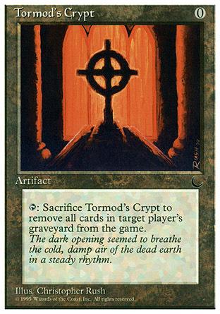 え銀 トーモッドの墓所 1枚(1枚在庫s 英 良品 CHR)/Tormod's Crypt(MTG /クロニクル/Chronicles/CH/)_画像1