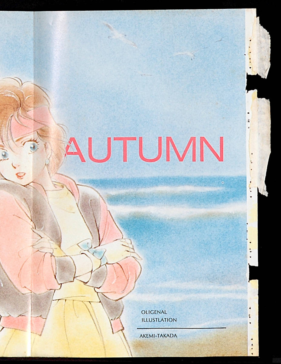 [Vintage][Not Displayed][Delivery Free]1984 Animec Pin-Up Poster Takada Akemi/ 6th Year Reader Present 高田明美[tag2202]_画像3