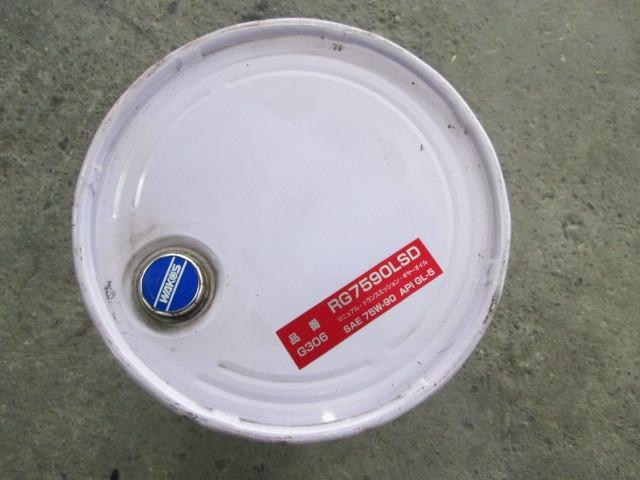 取手付き 空ペール缶 wako's 和光ケミカル 20L レーシングギヤオイル G306 75W-90 空缶 ワコーズ ペール缶 ゴミ箱椅子インテリアガレージ_画像2