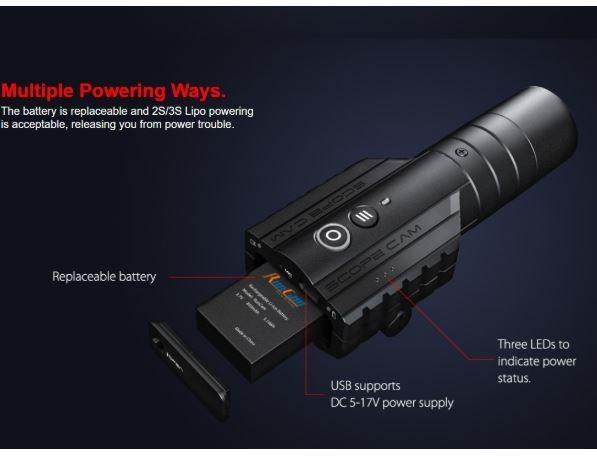 送料無料【2020年モデル】【日本サバゲー専用】レンズ:25mm【大容量バッテリ】遠望型ガンカメラ RunCam Scope Cam Lite  50mまで$*_画像3